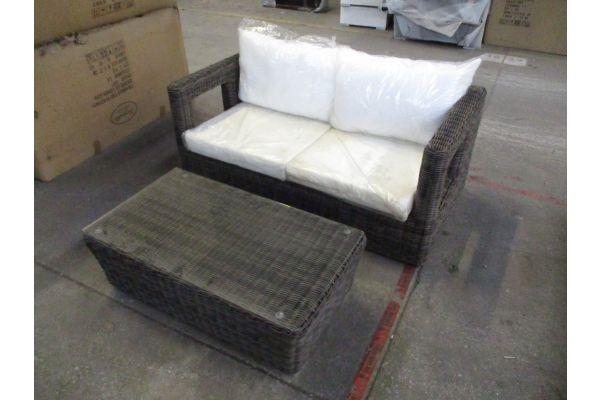 #HBM 1803: 2er Sofa Honolulu + Tisch Mandal
