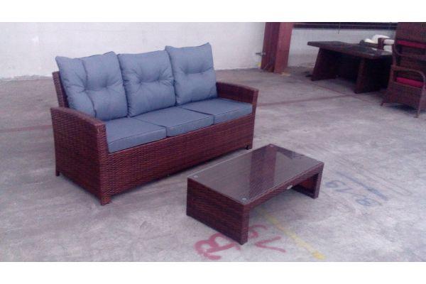 #G 3er Sofa fisolo + Tisch Casablanca