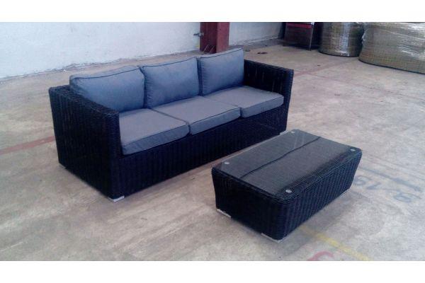 #G 3er Sofa Sorano + Tisch Mandal 5mm