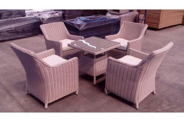 #G 4er Set Stühle Sandnes + Tisch Santa Lucia
