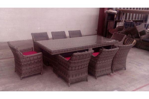 #G Sitzgruppe Sandnes XL-grau-meliert-rubinrot