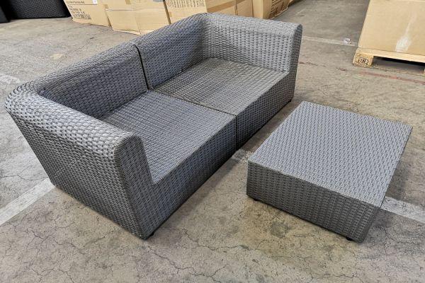 #G 550: 2x Eckelement mit Tisch Paradiso-grau