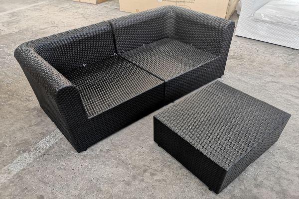 #G 554: 2x Eckelement mit Tisch Paradiso-schwarz