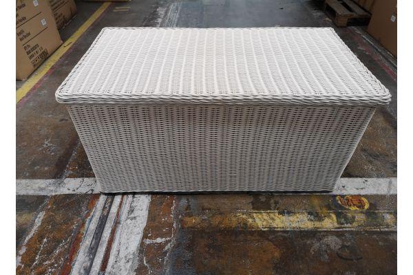 #G 571: Luxus Auflagenbox L-perlweiß