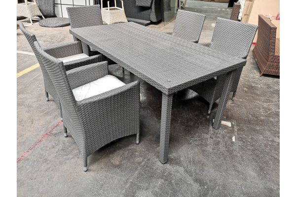#G 602 5er Set Stuhl mit Tisch Florenz