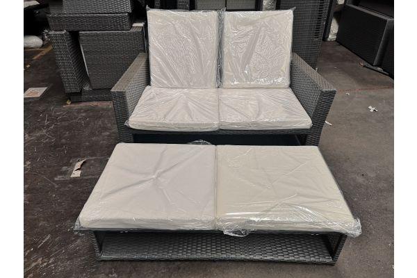 #G 620 Sofa Ancona-grau