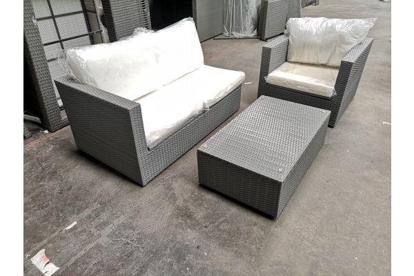#G 621 1x Seitenelement mit Sessel und Tisch Tibera-grau