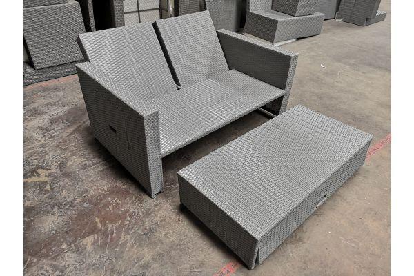 #G 628 Sofa Ancona-grau