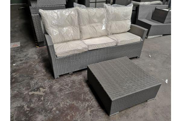 #G 630 3er Sofa Fisolo mit Tisch 3-1-1