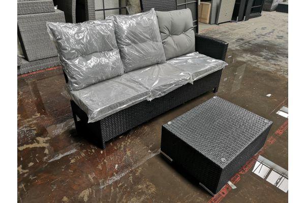 #G 649 3er Sofa Bermeo + Tisch