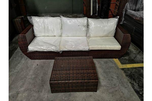 #G 730: Sofa bestehend ein Seiten- und Eckelement Gibraltar mit Hocker Masala