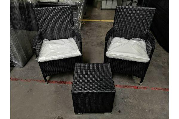 #G 739: 2er Set Stuhl Julia mit Beistelltisch Barcelona