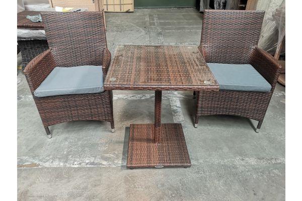 #G 748: 2er Set Stuhl Avignon mit Tisch Palermo