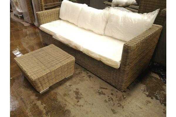 #G 788: 3er Sofa Mandal + Tisch 60x60x30 cm