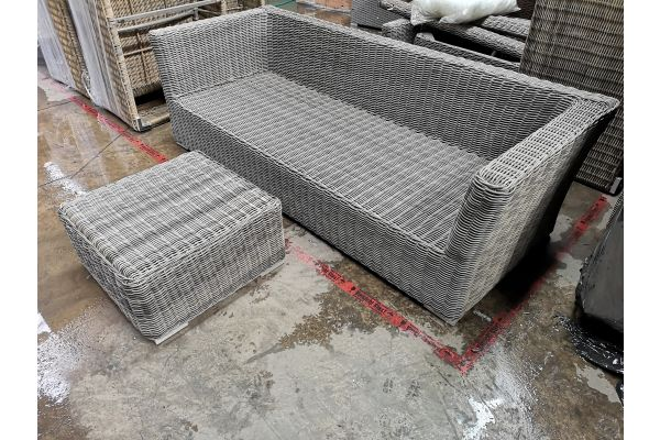 #G 789: 3er Sofa Mandal + Tisch 60x60x30 5mm