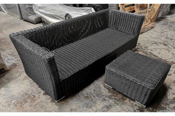 #G 821: 3er Sofa Mandal + Tisch 60x60x30