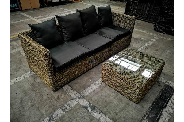 #G 840: Lounge Sofa Solano + Tisch Marbella