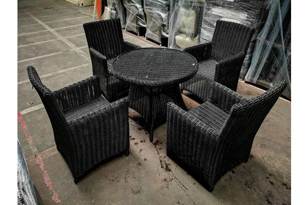 #G 968: 4x Stuhl Fontana + Tisch Farsund