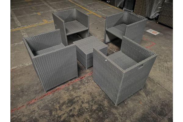 #G 1054: 4x Sessel + Tisch Maui