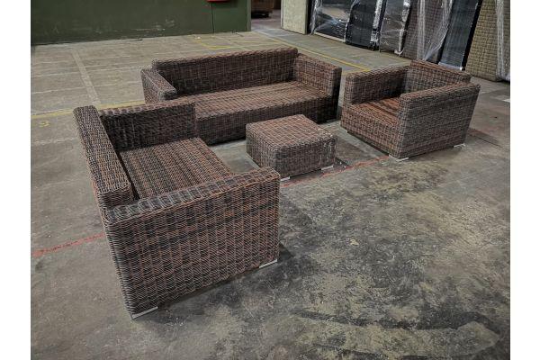 #G 1055: 3er Sofa + 2er Sofa + Sessel + Tisch Madeira