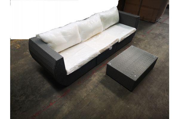 #HBM 1119: Sofa bestehend aus 2x Eckelement + 1x Mittelelement Gibraltar mit Tisch