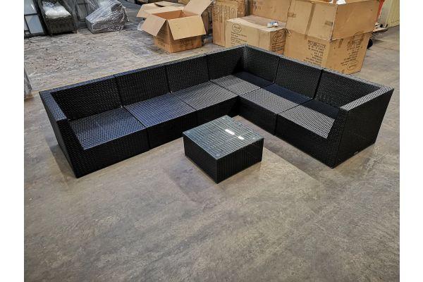 #G 1141: 3x Eckelement + 3x Mittelelement + Tisch Bologna