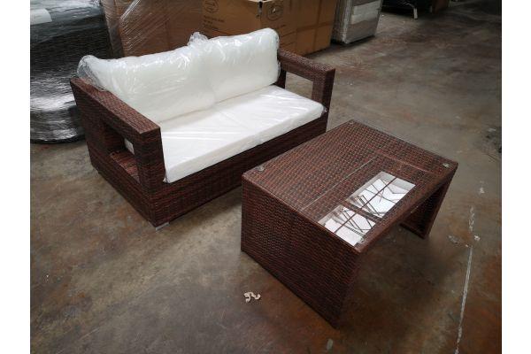 #HBM 1247: 2er Sofa Honolulu mit Kaffeetisch Casablanca