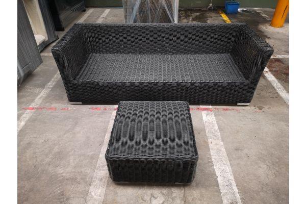 #G 1273: 3er Sofa Mandal mit Tisch Ariano 5mm
