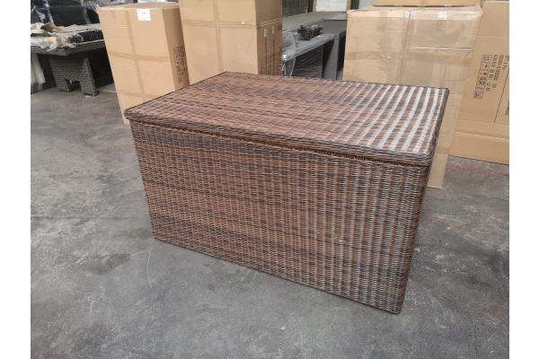 #G 1286: XXL Luxusauflagenbox-braun-meliert