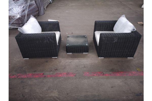 #G 1321: 2er Set Sessel mit Tisch Ariano 5mm