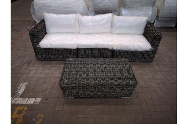 #HBM 1431: 3er Sofa Marbella und Tisch Mandal 5mm