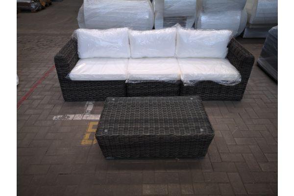 #HBM 1432: 3er Sofa Marbella und Tisch Mandal 5mm