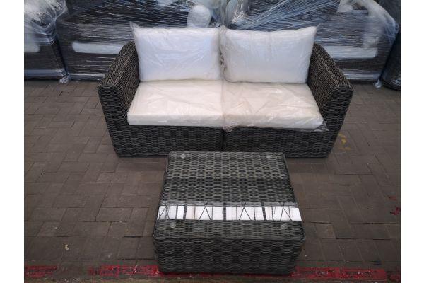 #HBM 1433: 2er Sofa Marbella mit Tisch Mandal 5mm