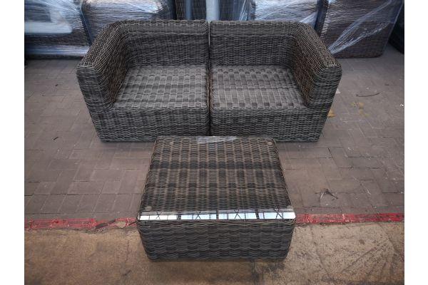 #HBM 1438: 2er Sofa mit Tisch Marbella 5mm