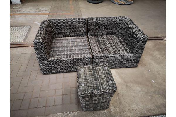 #HBM 1439: 2er Sofa Marbella mit Beistelltisch Mandal 5mm