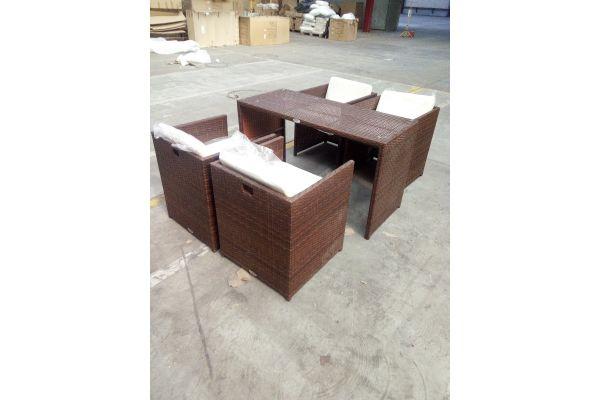 #HBM 1505: Sitzgruppe Tahiti mit 4 Stühlen