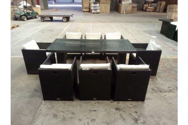 #HBM 1507: 8er Set Stuhl Maui mit Tisch Avignon XL