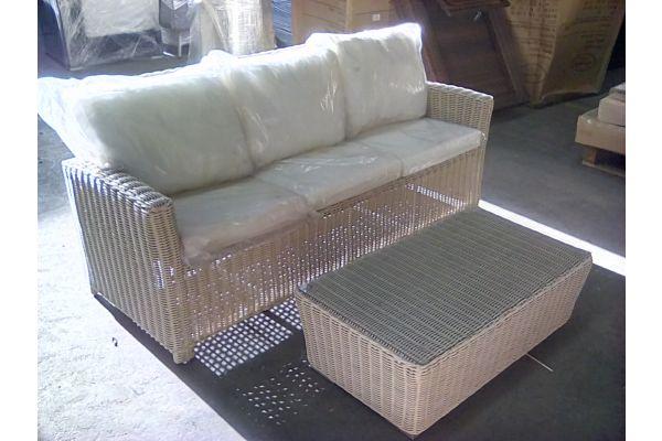 #HBM 1704: 3er Sofa Fisolo 5mm mit Tisch Mandal