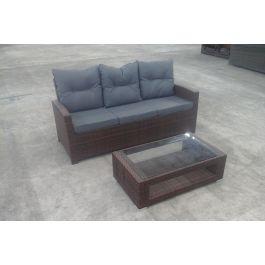 3er sofa fisolo tisch honolulu braun for Sofa verbinder