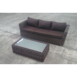 3er sofa mandal tisch tessera braun meliert terrabraun b ware clp. Black Bedroom Furniture Sets. Home Design Ideas