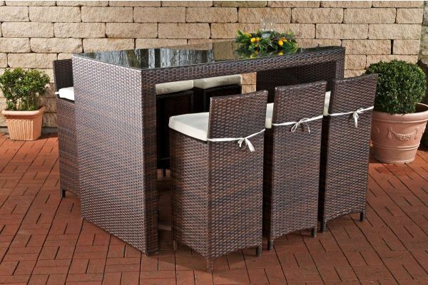 garten bar rattan barhocker bartisch versand 0. Black Bedroom Furniture Sets. Home Design Ideas