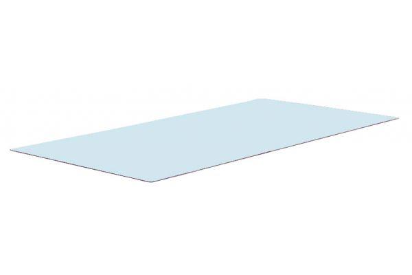Glasplatte Gartentisch 110x49 cm