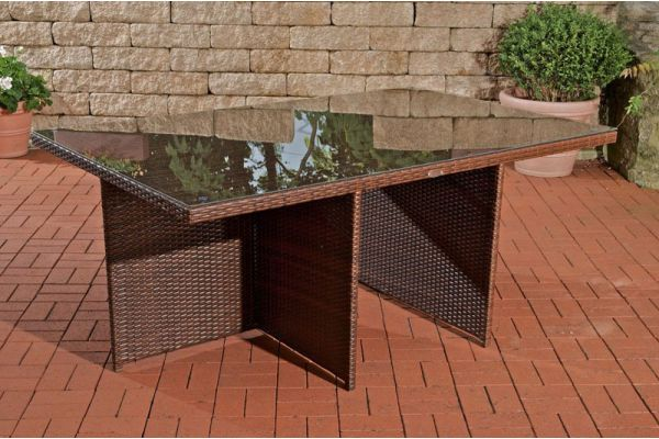 Tisch Maui 184x121x74,5 cm braun-meliert