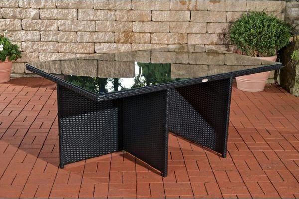 Tisch Maui 184x121x74,5 cm schwarz