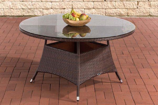 Tisch Venezuela 130 cm braun-meliert